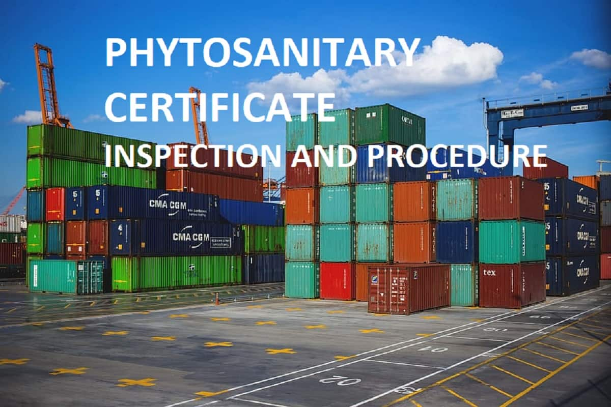 Procedure For Inspection And Issue Of Phytosanitary Certificate Psc Grainmart News