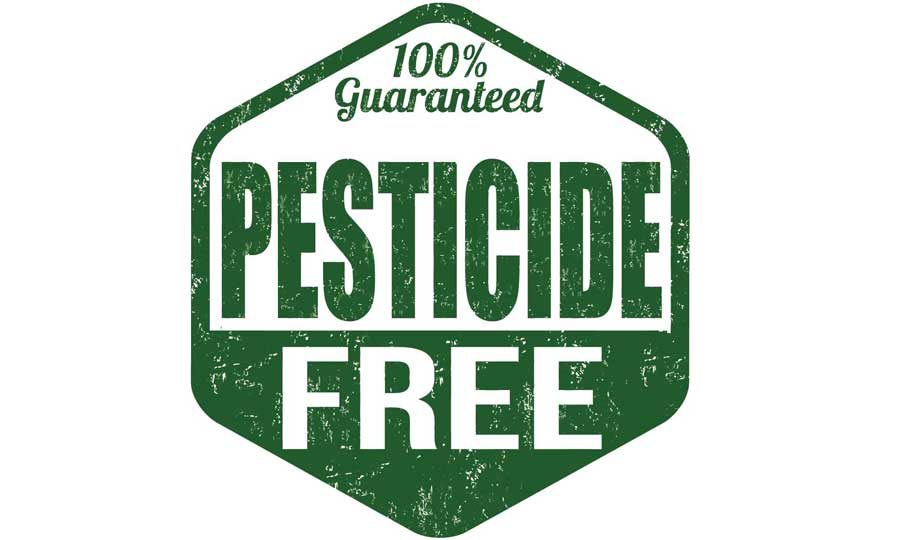 Caption promoting organic farming and pesticide- free crop production