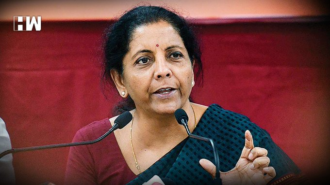 Financial Minister, Nirmala Sitharaman announcing the extension of income tax return filling date