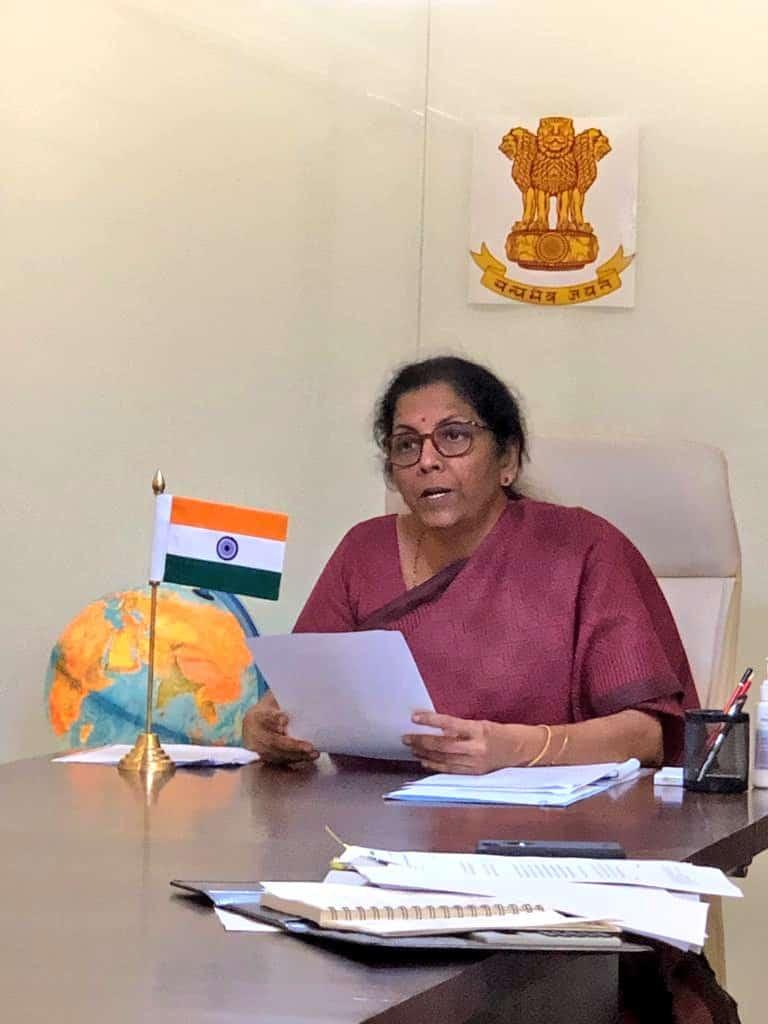 Nirmala Sitharaman, announcing the aids under PM- GKYM scheme